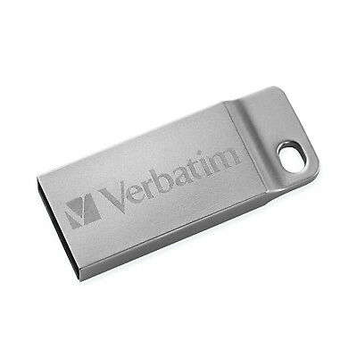 Verbatim 98748 16GB Metal Executive USB Flash Drive - Silver 16 GB USB 2.0
