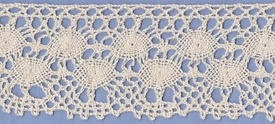 60mm Cream Cotton Torchon Lace (per metre)