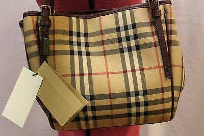 a392dbfeb58c BURBERRY 39393771 THE Small Canter Horseferry Check Tote Honey Tan ...