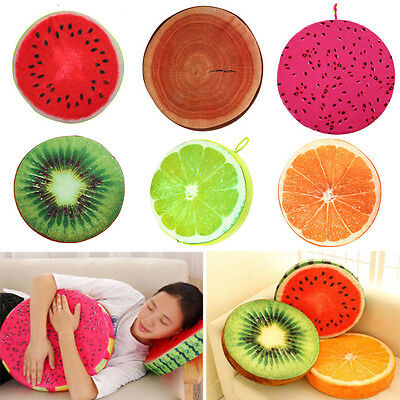 Fruit Design Couch Throw Pillow Chair Sofa Bed Round Soft Plush Cushion Seat Pad