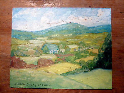 """Jean Constantineau """"Listed Painter"""" 8X10 Oil on Board,St-Armand!!!"""