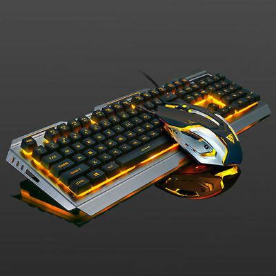 Mechanical Keyboard USB Cable Ergonomic Mechanical Gaming Keyboard and Mouse Set