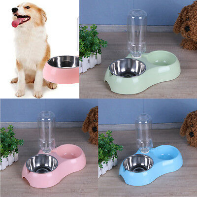 Pet Dog Automatic Water Bottles Cat Feeders Bowl Dishes Puppy Drinker Dispenser