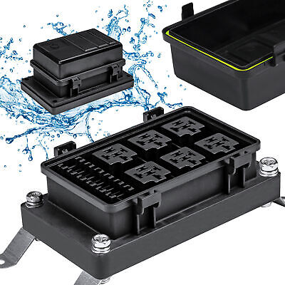 WATERPROOF FUSE RELAY BOX Block Panel Car Truck UTV RV