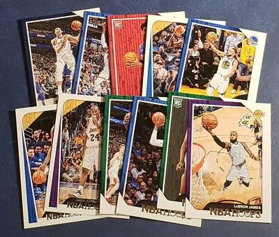 2018-19 Hoops Panini (1-300) Base Cards Rookies (A-Z) You Pick From List.
