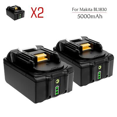 2x 18V 5.0AH Battery for Makita BL1830 BL1850 BL1840 BL1860 Lithium Ion Cordless