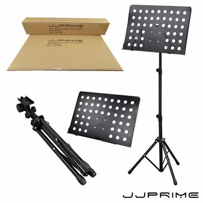 Orchestral Sheet Music Stand Holder Tripod Base Adjustable Height (Black)
