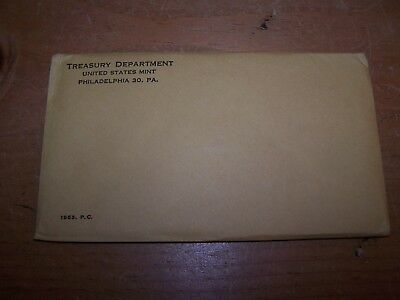 1963 United States Mint PROOF SET Sealed in UNOPENED Envelope of Issue
