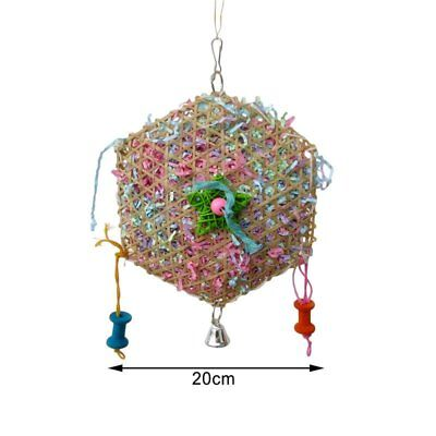 Parrot Swing Cage String Parrot Pet Toys Bird Swing Toy Chewing Rattan