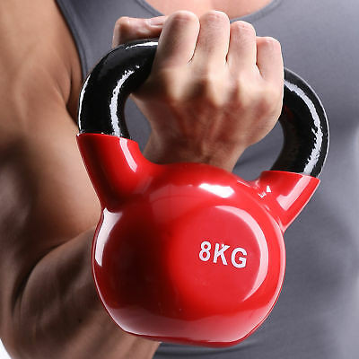 8kg Cast Iron Kettlebells Weight Strength Training Kettlebell Exercise Gym