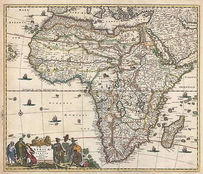 1685 Frederick de Wit Map of Africa