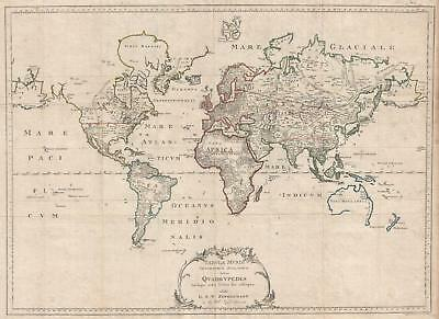 1783 Zimmerman Zoological Map of the World - 1st Zoological Chart