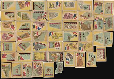 1940 Chocolates Orthi Trading Card Pictorial Map of Africa (incomplete set)