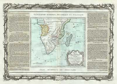 1786 Desnos and de la Tour Map of Southern Africa and Madagascar