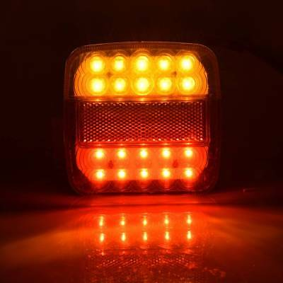 1Pair 12V 26 LED Car Trailer Tail Lights Left Right Taillight Truck Van Lamp