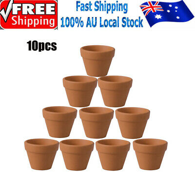 10Pcs 3 Size Clay Ceramic Succulent Small Mini Terracotta Pot for Wedding Favor