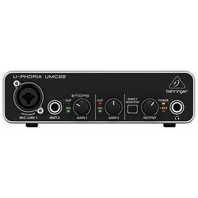 Behringer UMC22 U-PHORIA USB Audio Interface | Free UK Delivery