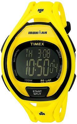New Timex Ironman Yellow+Black Tone,50 Lap,Resin Plastic,Indiglo,Watch Tw5M01800