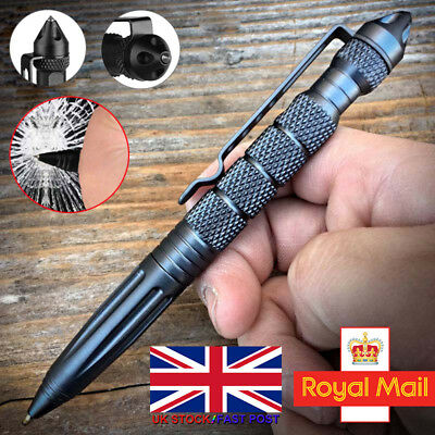 "Aluminum 6"" Tactical Pens Glass Breaker BLACK Survival Army Pen Christmas Gifts❤"