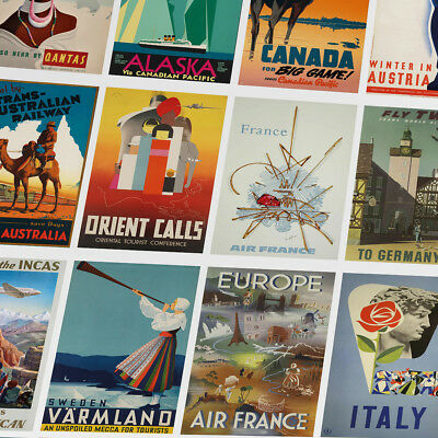Vintage Retro Travel Posters - Beautiful prints that will look great in any room