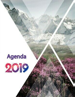 2019 Weekly Planner Agenda 148x210 mm HardCover New brand HQuality