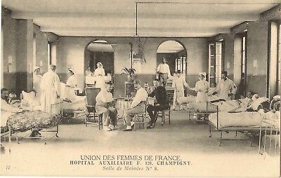 Union Of The Women Of France 51 Auxillary Nurses Champigny Suffragette Interest