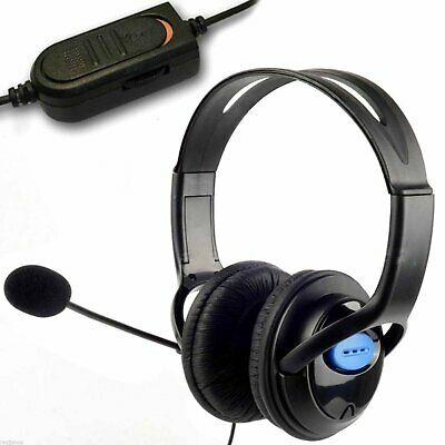 Deluxe Headset Headphone + Microphone + Volume Control For Ps4 Controller