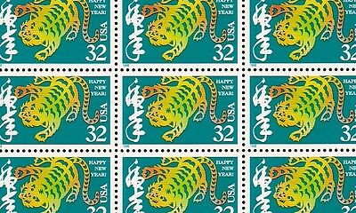 1998 - YEAR OF THE TIGER - #3179 Full Mint -MNH- Sheet of 20 Postage Stamps