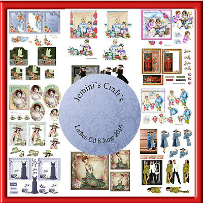 Decoupage  Cd X All Assorted Ladies Cd 8 (June 2016)Buy 2 Get A 3Rd Cd Free