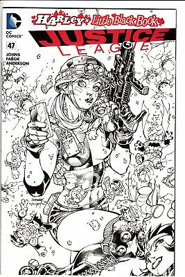 JUSTICE LEAGUE #47, JIM LEE HARLEY QUINN INK ONLY VARIANT, New, DC (2016)