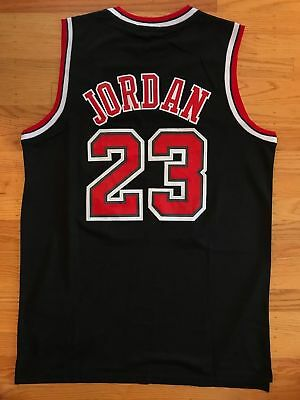 Throwback Basketball Jersey MICHAEL JORDAN 23 Chicago Bulls Black black stripes