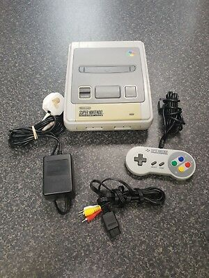(pa2) Super Nintendo Entertainment System White Console SNES