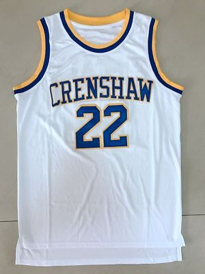a26728f0c4cb Quincy McCall  22 Crenshaw High School Basketball Movie Jersey White