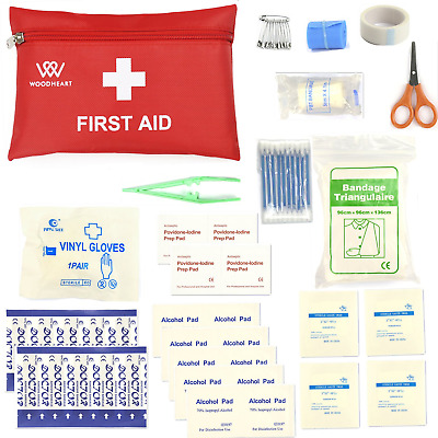 First Aid Kit,Portable Medical Bag Survival Emergency Kit by WOODHEART,...