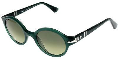 3fa528ccd4744 NEW WOMEN S PERSOL 3098-S 1003 71 ROUND FRAME SUNGLASSES GRAY ITALY ...