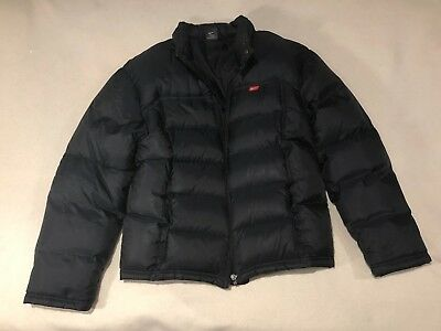 20963a2eb Nike Padded Jacket Coat Black Women's Size M Feather Down Good Condition  Puffer