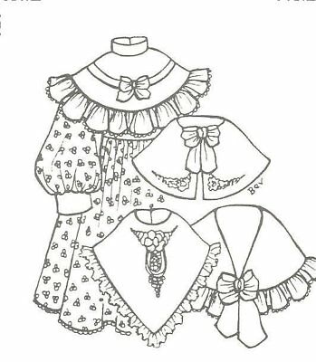 modern 1970 now clothing patterns patterns doll making repair 1970s Baby Dolls Black 24 25 doll dress pattern victorian german french antique vintage look 1044