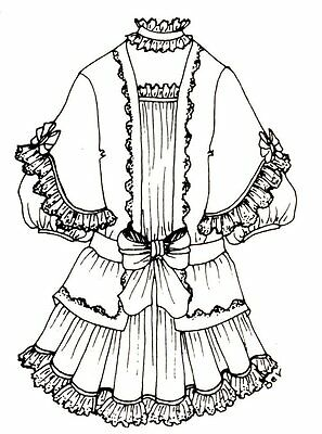 modern 1970 now clothing patterns patterns doll making repair Woman's Pinafore Pattern period dress outfit french german victorian pattern for a 18 to 19