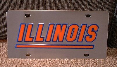 University Of Illinois Fighting Illini Edelstahl Vanity Kennzeichen