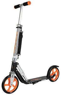 Hudora Big Wheel 205 Black/Orange Scooter Roller extra große Räder 14774