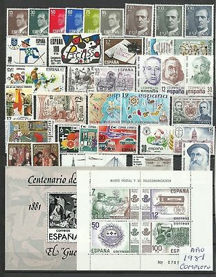 España Spain Año Completo Year Complete 1981 MNH