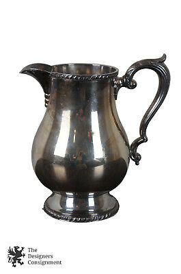 Antique Wallace Melford Silverplate Pitcher Creamer Tea Coffee Pot Water Jug 9""