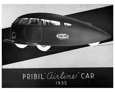 "1935 Pribil ""Airline"" Streamline Concept Car Automobile Photo Poster zca4396"