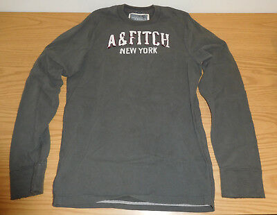 c51ba4d6 Abercrombie & Fitch Dark Green Muscle Fit Long Sleeve Shirt Mens L Large A&F