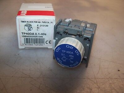 New Abb .1-40 Second Timer Block For Contactor Tp40Da