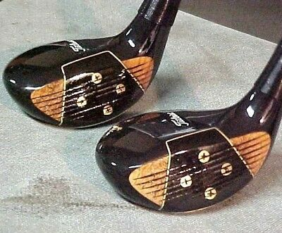 PERSIMMON Titleist Acushnet RH Golf Clubs Refinished Set Woods 4 & 5 w New Grips