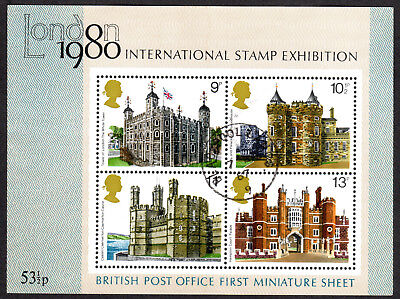 1978, 1979  2 Miniture Sheets, British Architecture, London Exibition, Nice Used