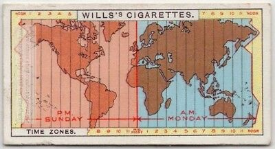Time Zones Were Standardized And GMT Adopted In 1884 90+  Y/O Ad Trade Card