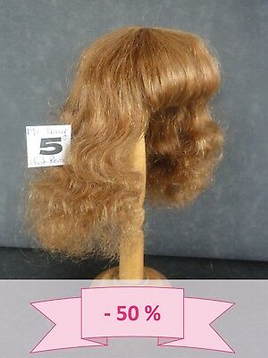-50% PROMO PERRUQUE de POUPEE T5 (25.5 cm) 100% cheveux mi-long Chatain-roux