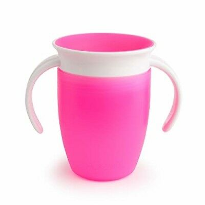 Tasse d'apprentissage miracle 360 ° ROSE 207 ml enfants apprentissage transport